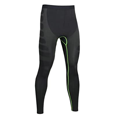Wofupowga Mens Running Stretch Moisture Wicking Compression Dry Fit Pants