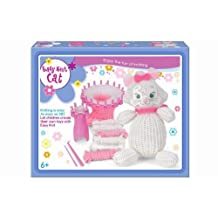 Children's Easy Knitting White Cat Teddy Reusable Starter Kit Great Present by BBC
