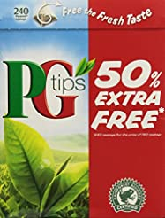 Pg Tips 240 Bags, Pack of 2 (160 Bags +8...
