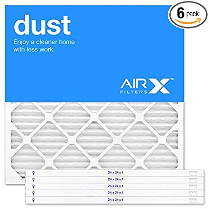 airx filters dust 24x24x1 air filter merv 8 ac furnace pleated air ...