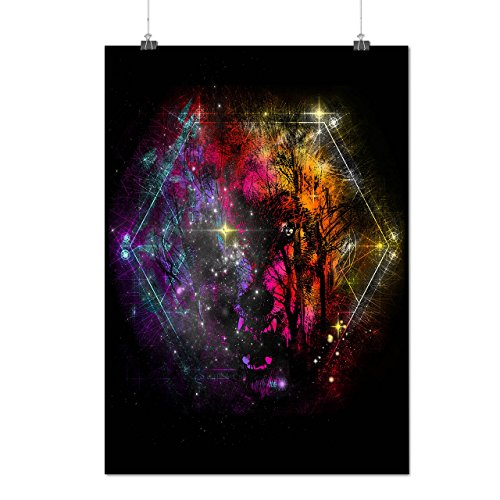 Wild Grey Wolf Face Forest Life Matte/Glossy Poster A4 (9x12 inches) | - Giorgio 9 Sunglasses
