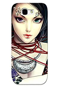 Improviselike New Arrival Galaxy Note 2 Case Tattooed Archer Girl Case Cover/ Perfect Design