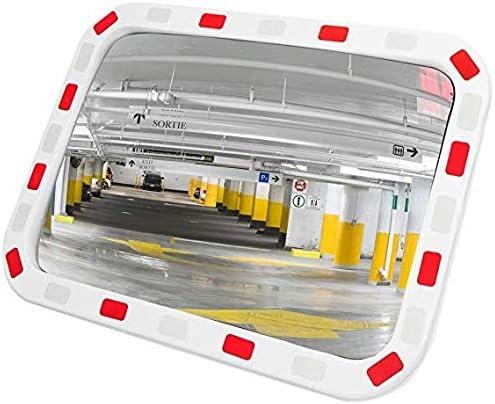 Miroir convexe de route de s/écurit/é grand angle courb/é pour le miroir ext/érieur de feu de signalisation de s/écurit/é de tache aveugle de chauss/ée de s/écurit/é Miroir dangle mortJ526