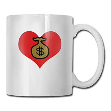 Amazon com: Love Dollar Cash Money Tea Cup Novelty Gift for Lovers
