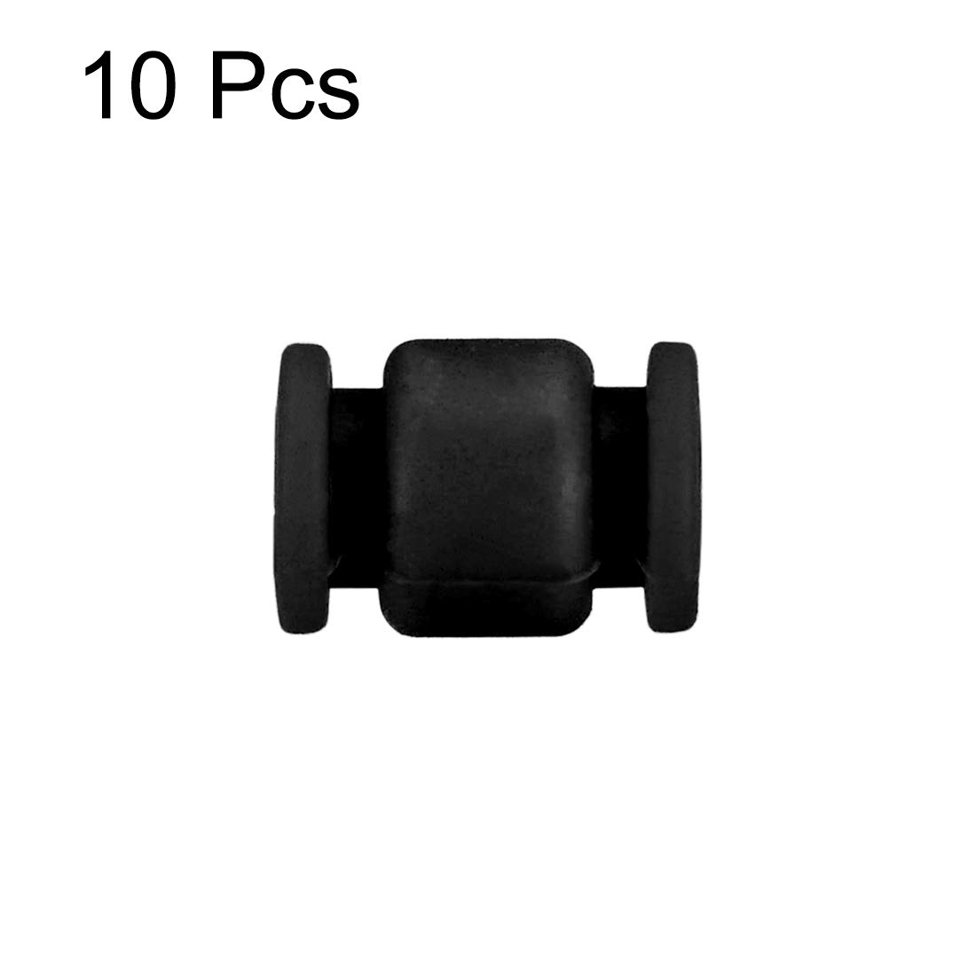 sourcing map RC Anti Vibration Rubber Balls 10PCS for Fright Controller//Gimbal//Webcam//QAV250//ZMR250 Black