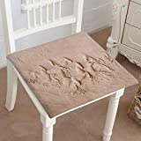 Mikihome Chair Pad Soft Seat Cushion Horses are rac to Carve Stone Walls Expandable Polyethylene Stuffed Machine Washable 30''x30''x2pcs