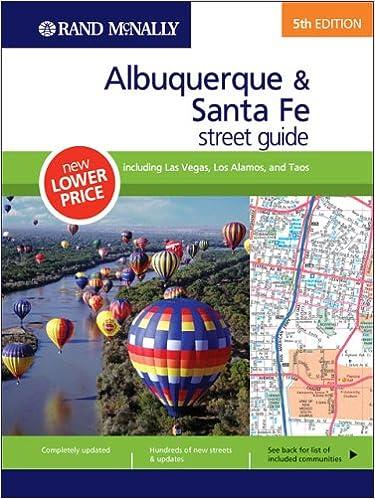 Albuquerque To Santa Fe >> Rand Mcnally 5th Edition Albuquerque Santa Fe Street Guide