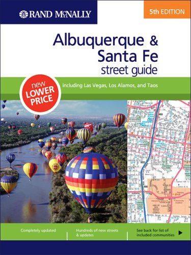 Rand McNally 5th Edition Albuquerque & Santa Fe street guide including Las Vegas, Los Alamos, and Taos