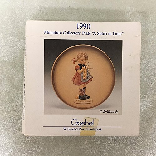 - Little Homemakers 1990 Goebel Hummel Miniature Plate A STITCH IN TIME