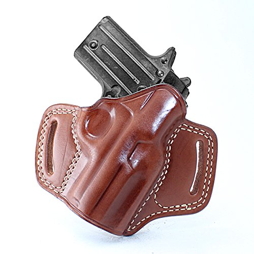 Premium The Ultimate Leather OWB Pancake Holster Open Top Fits, Sig P938, Right Hand Draw, Brown Color #1098# - Open Top Sig