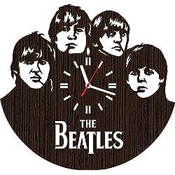 Wooden Wall Clock The Beatles Gifts for Men Women him her Fans Lover Legends of Music Home Decorations Rock Band Art Decor Room Merchandise Stuff Items Vinyl