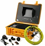 130 ft Sewer Drain Pipe Color Camera Video System DVR w/ 512Hz Transmitter