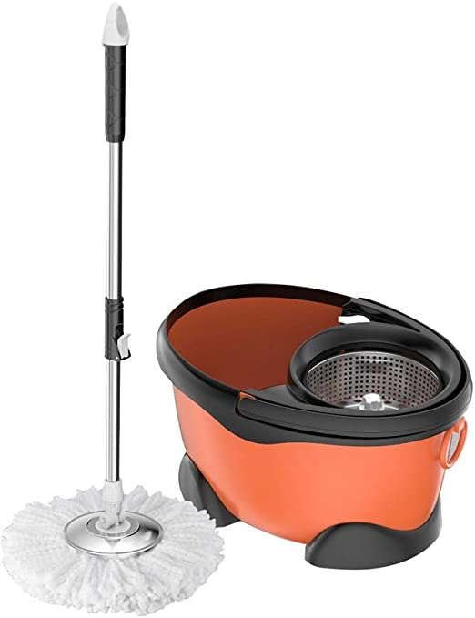 THBEIBEI Spinning Mop and Bucket Cleaning Set Ajustable Hangable ...