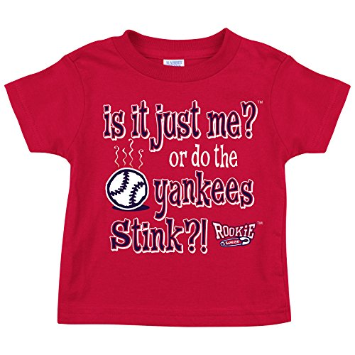 Rookie Wear by Smack Apparel Boston Red Sox Fans. is It Just Me?! Red Toddler Tee (2T)