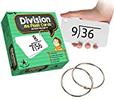 Star Right Math Division Flash Cards, 0-12 (All Facts, 156 Cards) With 2 Rings