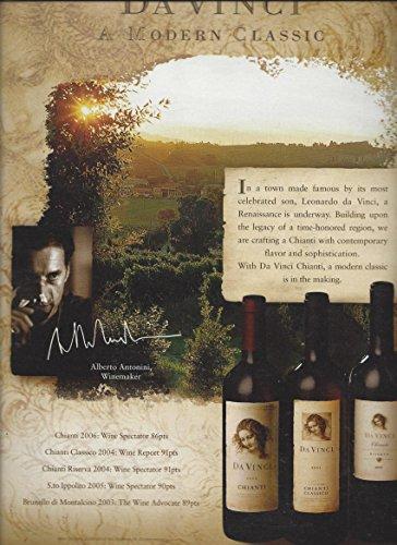 PRINT AD For 2008 Da Vinci Chianti Wine - Wine Da Vinci
