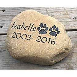 Personalized Dog Pet Memorial River Stone
