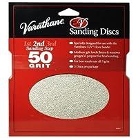 Rust-Oleum 203937 Varathane 50 Grit Sand Discs for EZV Floor Finish Sanders, 3-Pack by Rust-Oleum
