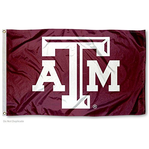 (College Flags and Banners Co. Texas A&M Aggies Beveled Logo Flag)