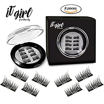1af8461662b Dual Magnetic False Eyelashes Extension for women 3D Glue-FREE Ultra Thin  2Pairs/8Pcs