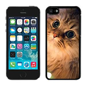 Personalization Lovely Christmas Cat Black Plastic Iphone 5c,Apple Iphone 5c Cover Case