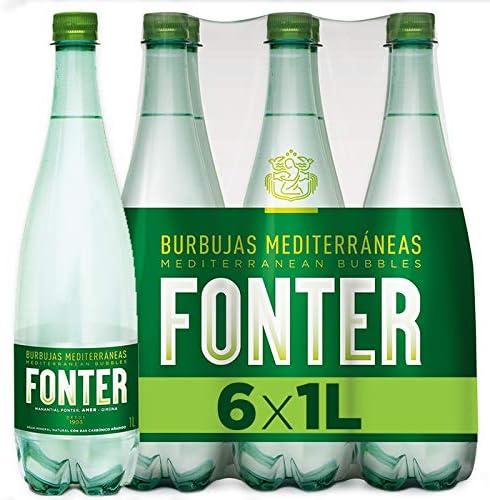 Fonter, Agua Mineral con gas - Pack de 6 x 1L: Amazon.es ...