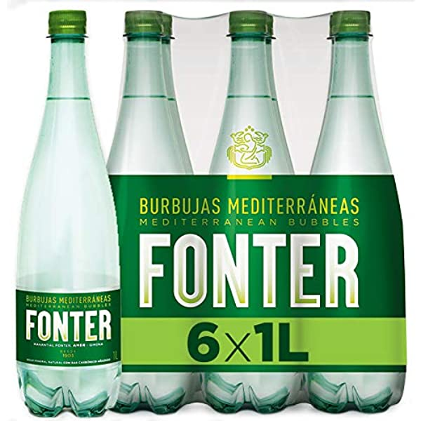 Fonter, Agua Mineral con gas - Pack de 6 x 1L: Amazon.es: Alimentación y bebidas