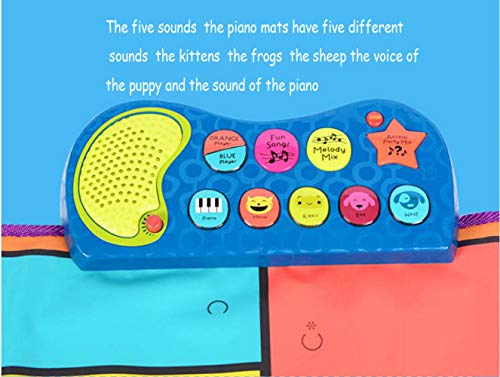 QXMEI Piano Dance Mat Children's Music Game Mat Fitness Mat Parent-Child Interactive Toys by QXMEI (Image #2)