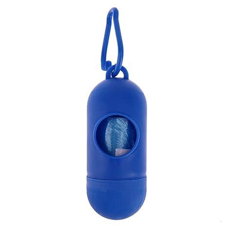 NELNISSA Dispensador de bolsas de basura para mascotas + bolsa para recoger bolsas (azul real