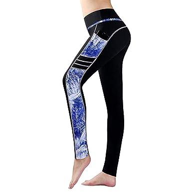 a815a5b1b2c Amazon.com: Sunbona Women Yoga Pants, Stitching Print Tight Gym Running Yoga  Pants Sweatpants Leggings Trousers: Clothing