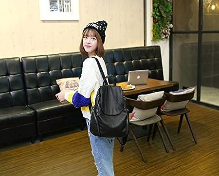 SJMMBB Double shoulder bag women bag full skin backpack burglar burglar bag,black,33X29X17CM