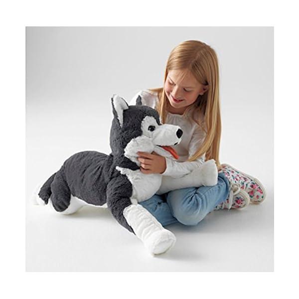 Ikea Livlig Soft Toy Husky Dog Siberian Stuffed Alaskan Malamute Eskimo Large 2