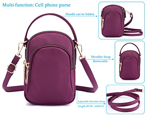 Phone Smartphone Women Green Bag Girls Small Cell For Holder Wallet Phone Collsants Purse Crossbody Y65f6qO