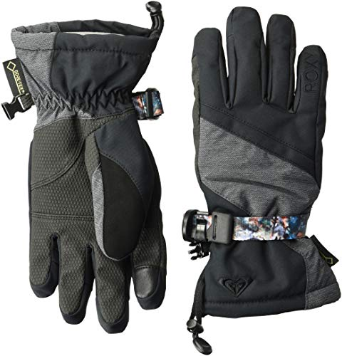Roxy SNOW Junior's Crystal Snow Gloves, true black ()
