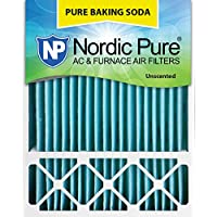 Nordic Pure 20x25x5 (4-3/8 Actual Depth) Pure Baking Soda Honeywell/Lennox Replacement AC Furnace Air Filter Box of 1