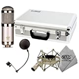 MXL R144 HE Ribbon Microphone Heritage Edition with Case, Shock Mount, and Pop F