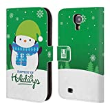 Head Case Designs Penguin Christmas Tidings Leather Book Wallet Case Cover for Samsung Galaxy S4 I9500