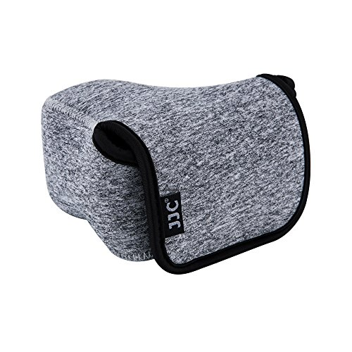 JJC Ultra-Light Neoprene Camera Case Pouch Bag for Sony Alpha A6000 A6400 A6300 A6500 A5100 A5000 NEX 5N + E 18-55mm/10-18mm/50mm Lens And Other Camera & Lens Below 4.7 x 2.9 x 5.1