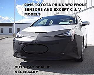 Lebra 2 piece Front End Cover Black - Car Mask Bra - Fits - 2016 Toyota Prius - without front sensors (excludes 'C' & 'V' models)