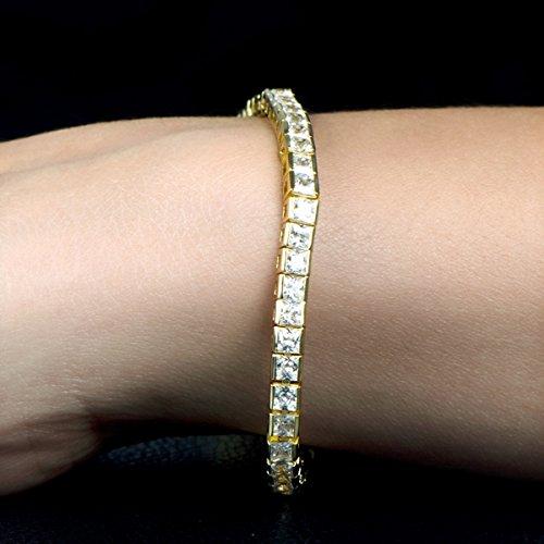 Imari de 8en coupe princesse Doré Oxyde de Zirconium Bracelet de tennis