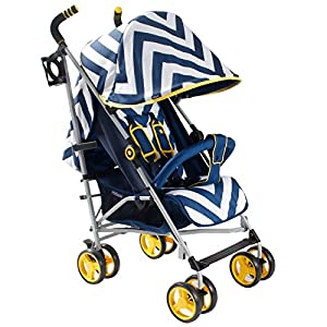 My Babiie MB02 Stroller (Blue Chevron)