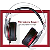 PS4 Gaming Headset for Xbox One Headphones Wired Over Ear Surround Sound with Microphone Switch Stereo Bass Volume Control Noise Isolating for Laptop, Mac, Computer, Tablet (K5U - USB)