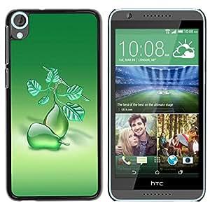 Be Good Phone Accessory // Dura Cáscara cubierta Protectora Caso Carcasa Funda de Protección para HTC Desire 820 // Fruit Macro Pears