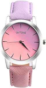 QK Time Casual Watch For Girls Analog Leather - 2018