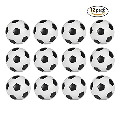 Table Soccer Foosballs Replacement balls Mini Black and White 36mm official foosball 12 Pack