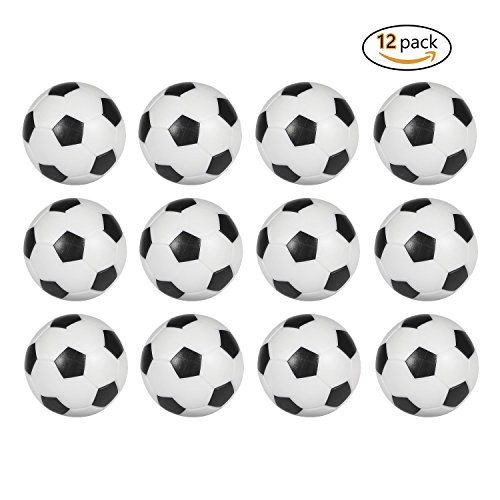 Best Deals! Table Soccer Foosballs Replacement balls Mini Black and White 36mm official foosball 12 ...