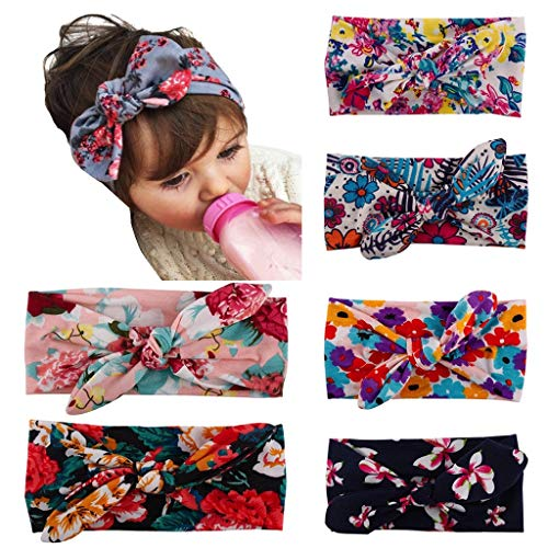 (Baby Girl Headbands,Baby Headbands Turban Knotted,Hairbands for Newborn,Toddler and Children)