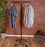 Industrial Pipe Clothing Rack 2-Way by William Robert's Vintage