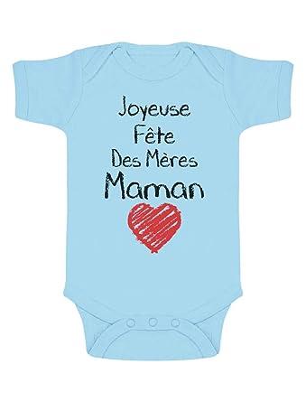 9d36d4269931e Green Turtle T-Shirts Joyeuse 1ere Fête des Mères Maman!! Body Bébé Manche