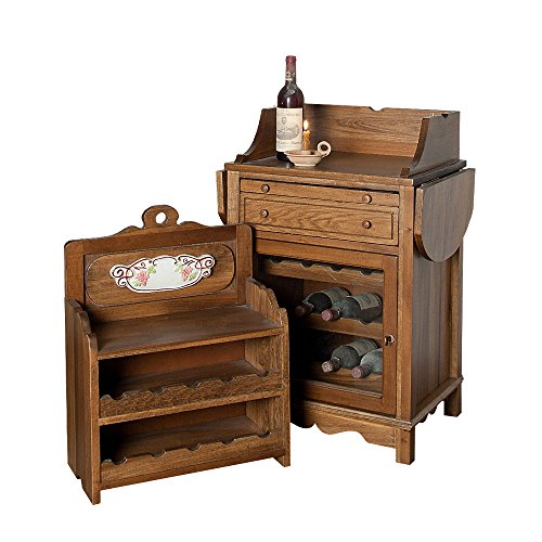 B&c mobile portabottiglie vino in legno di pioppo massello ...